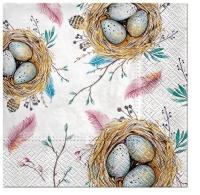 Servietten 33x33 cm - Easter Nest