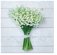 Servietten 33x33 cm - White Bouquet