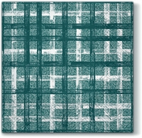 Servietten 33x33 cm - Fabric Check GREEN
