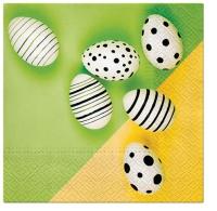 Servietten 33x33 cm - Modern Eggs (green)