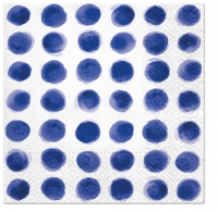 Servietten 33x33 cm - Watercolor Dots BLUE