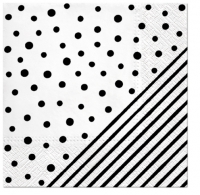 Servietten 33x33 cm - Dots and Stripes
