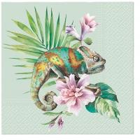 Servietten 33x33 cm - Exotic Chameleon