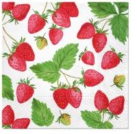 Servietten 33x33 cm - Fresh Strawberry