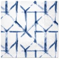 Servietten 33x33 cm - Watercolor Grid (blue)