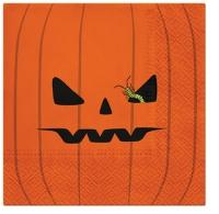 Servietten 33x33 cm - Pumpkin Face