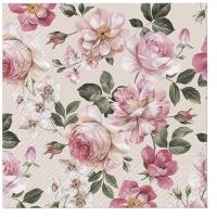 Servietten 33x33 cm - Roses Glory (cream)