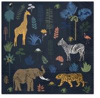 Servietten 33x33 cm - Exotic Animals