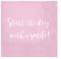 Servietten 33x33 cm - Smile Everyday
