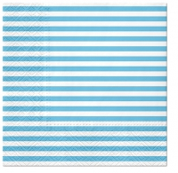 Servietten 33x33 cm - Lines (light blue)