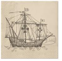 Servietten 33x33 cm - Sailing Ship