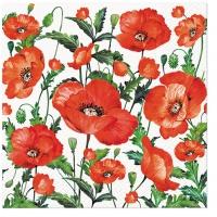 Servietten 33x33 cm - Flanders Poppy