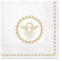 Servietten 33x33 cm - Christening Dove