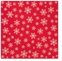 Servietten 33x33 cm - Stars Everywhere (red)