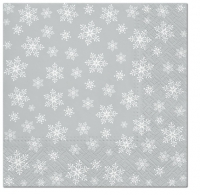Servietten 33x33 cm - Stars Everywhere (silver)