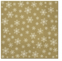 Servietten 33x33 cm - Stars Everywhere (gold)