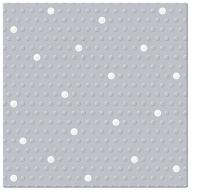 Servietten 33x33 cm - Inspirationspunkte Punkte Punkte silber-weiß
