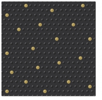 Servietten 33x33 cm - Inspiration Dots Spots black-gold