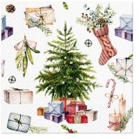 Servietten 33x33 cm - Christmas at Home