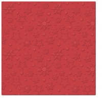 Servietten 33x33 cm - Inspiration Winter Flakes (red)