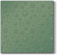 Lunch Servietten Winter Flakes (green metallic)