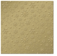 Servietten 33x33 cm - Inspiration Winter Flakes (gold)
