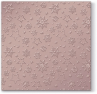 Servietten 33x33 cm - Inspiration Winter Flakes (pink metallic)
