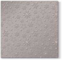 Servietten 33x33 cm - Inspiration Winter Flakes (warm grey metallic)