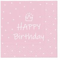 Servietten 33x33 cm - Special Day (light pink)