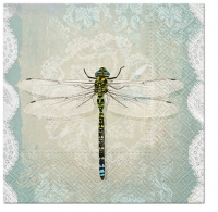 Servietten 33x33 cm - Romantic Dragonfly