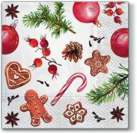 Servietten 33x33 cm - Aroma Hausgemachte Süßigkeiten