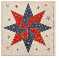 Servietten 33x33 cm - Patchwork Star