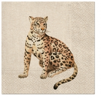 Servietten 33x33 cm - We Care Leopard