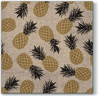 Servietten 33x33 cm - We Care Pina Colada gold