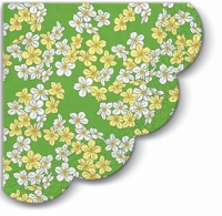 Servietten - Rund Floral Carpet green R