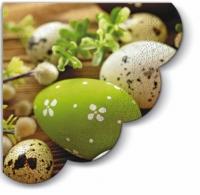 Servietten - Rund Eggs among Catkins