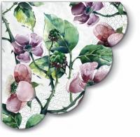 Servietten - Rund Pink Wild Roses R