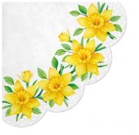 Servietten - Rund - Daffodils in Bloom