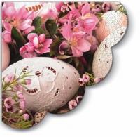 Servietten - Rund Pink Easter - 3-lagig