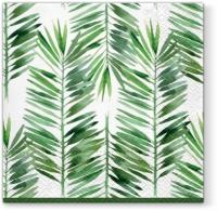 Servietten 33x33 cm - Feuilles de Palme Bord vert vert