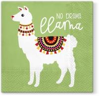 Lunch Servietten No Drama Llama green