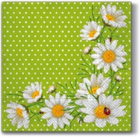 Servietten 33x33 cm - Bunchof Marguerities (green)