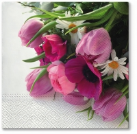Servietten 33x33 cm - Pink Bouquet