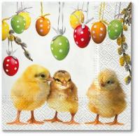Servietten 33x33 cm - Süßes Huhn
