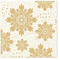 Servietten 33x33 cm - Snowflakes Cream