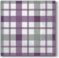 Servietten 33x33 cm - Subtil-Check (violett)