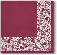 Servietten 33x33 cm - Chic Frame (bordeaux)