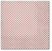Servietten 33x33 cm - Small Dots (red)