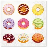Servietten 33x33 cm - Tasty Donuts