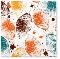 Servietten 33x33 cm - Leaves Print honey